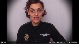 Une Policière Espagnole s'adresse aux Gendarmes et Policiers